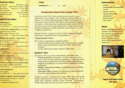 DPU, 2010, Predstavitev Doma Petra Uzarja Tržič, Izdano ob 30 letnici Doma, predstavitvena zloženka 3b