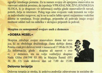 DPU, 2010, Predstavitev Doma Petra Uzarja Tržič, Izdano ob 30 letnici Doma, predstavitvena zloženka 3e