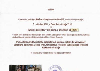 DPU, 2011, Mednarodni dan starejših, vabilo 3