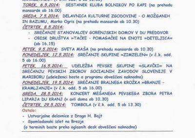 DPU, 2014, Program aktivnosti in prireditev za maj 2014 3a